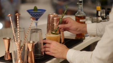 Behind the Bar at Wonderland: Royal Caribbean Master Mixologists Serve Up Whimsical Cocktails