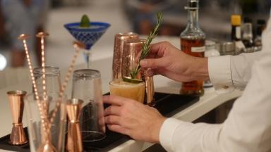 Behind the Bar at Wonderland: Royal Caribbean Master Mixologists Serve Up Whimsical Cocktails