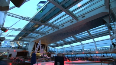 Poolside Bliss, Rain or Shine: Retractable Roof on Royal Caribbean's High-Tech Ship Ensures Fun for Guests