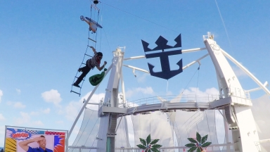 Hideaway Heist Steals the Show on Harmony of the Seas: Royal Caribbean Debuts a New High-Diving Spectacular