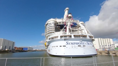 From Construction To Delivery: Symphony of the Seas Milestone Mashup