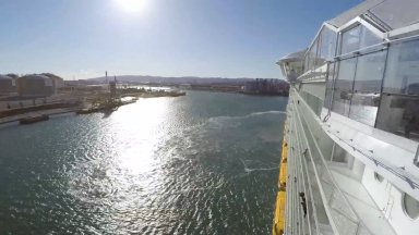 Symphony of the Seas Barcelona Sail Away Timelapse