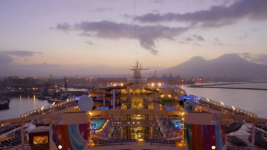 Symphony of the Seas Arrives in Naples Timelapse