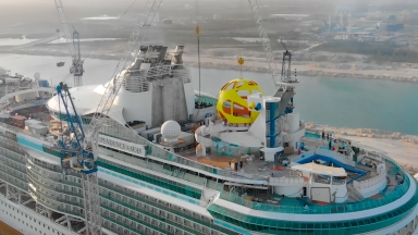 Independence of the Seas Sky Pad Installation