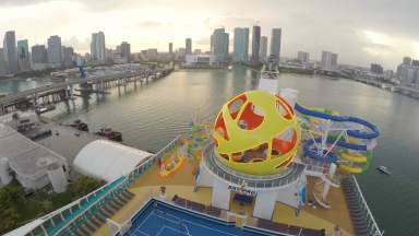 Mariner of the Seas Miami Departure Timelapse