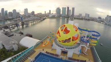 Mariner of the Seas Miami Departure Timelapse