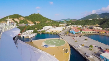 Navigating a Narrow Port: How One of the World's Largest Cruise Ships Sails into St. Thomas