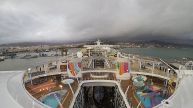 Symphony of the Seas Transatlantic Departure Timelapse from Malaga