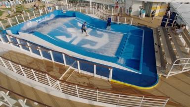 Surf's Up on Royal Caribbean's FlowRider