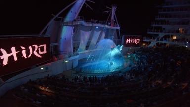 Dancing, Diving, Slacklining and 3D Flying: Symphony of the Seas' HiRo Raises the Bar