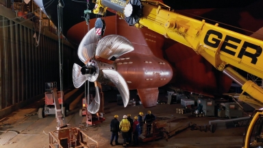 Spectrum of the Seas Propeller Installation