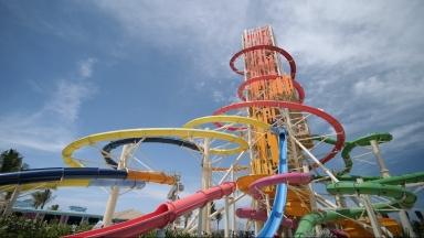 Thrill Waterpark at Perfect Day at CocoCay B-Roll