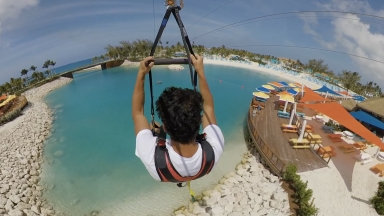 Zip Line at Perfect Day at CocoCay B-Roll