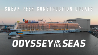Odyssey of the Seas Construction Sneak Peek: Royal Caribbean's Newest Ship